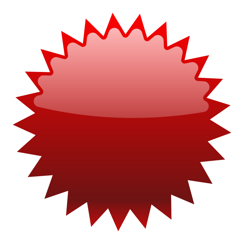 Red Star Button by sophokles