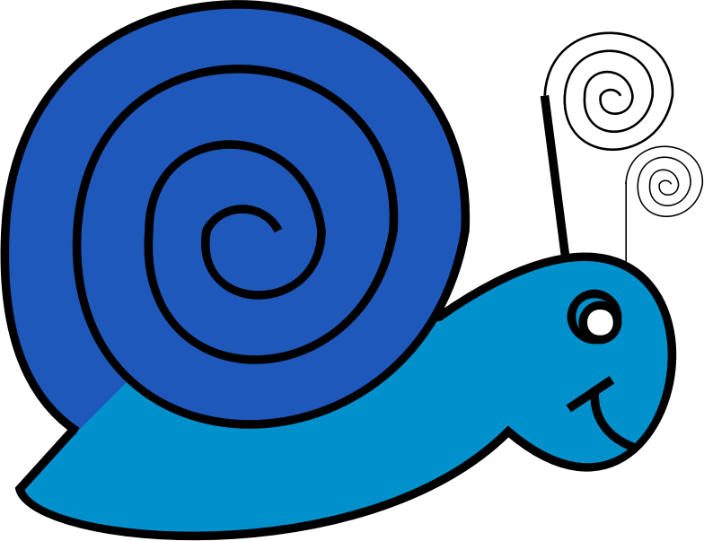 Snail Doodle by JayNick - From the book, I Love to Doodle. SVG code can be inserted into an SVG image then scaled and positioned where desired. Handcoded SVG for simplicity.