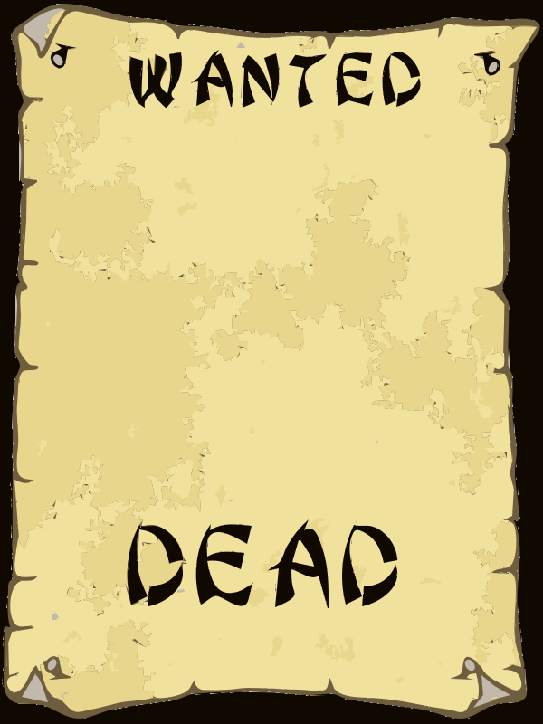 Clipart - WANTED POSTER 4
