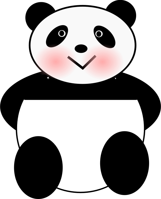 Panda by JuliaMatic - A little Panda sitting down and looking at you.
