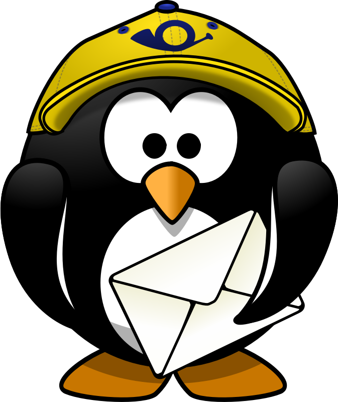 Mr. Postman by Moini - This penguin alwas rings twice.
