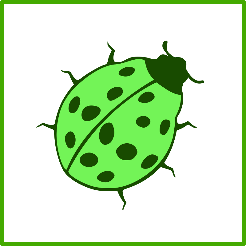 eco green beetle icon by dominiquechappard - eco pictogram/icon - ladybug
