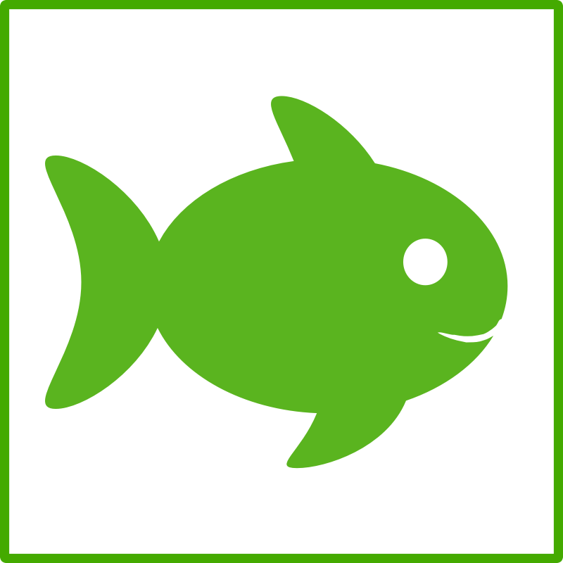 eco green fish icon by dominiquechappard - A green colored eco fish