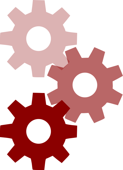 Pink cogwheels by liftarn - Some cogwheels from https://commons.wikimedia.org/wiki/File:Cog-scripted-svg.svg