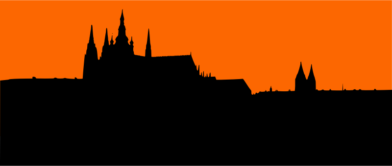 Prague Castle by liftarn - Prague castle traced from http://www.publicdomainpictures.net/view-image.php?image=17358&picture=pragborgen-silhuett