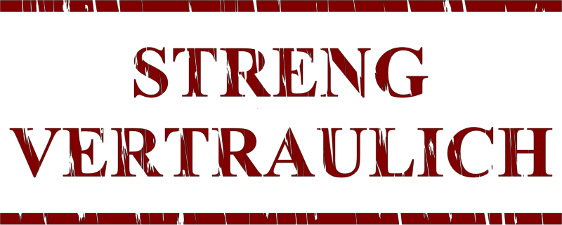 "Streng Vertraulich by Mogwai - A sticker with text ""streng vertraulich"";  strict confidential in German"