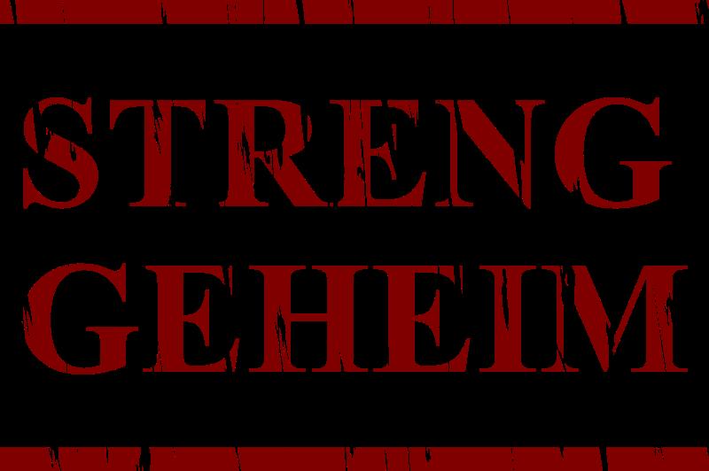 Streng Geheim in English Streng Geheim