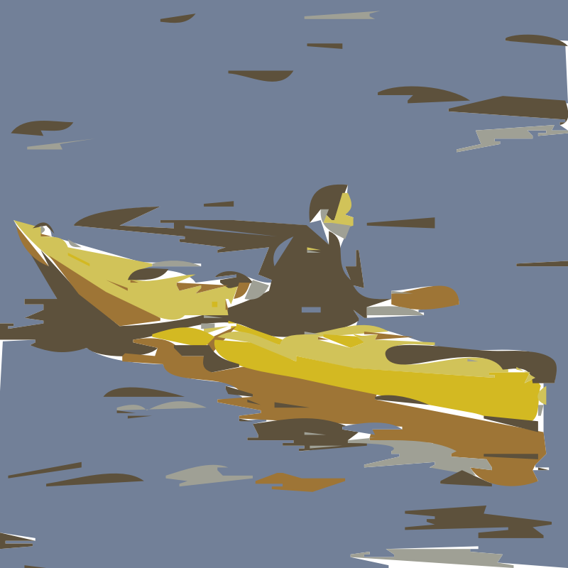 canoeing by mdlsoft -  canoeing sculling - vectorized
