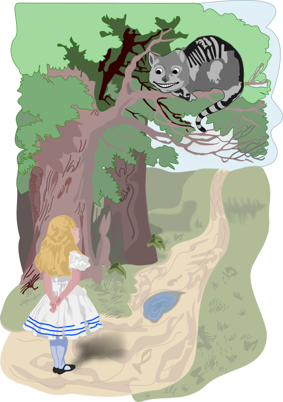 Alice and the Cheshire Cat by frankes - Alice and the Cheshire Cat