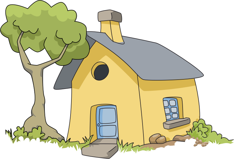 Clipart house of tree for Arbre maison jouet