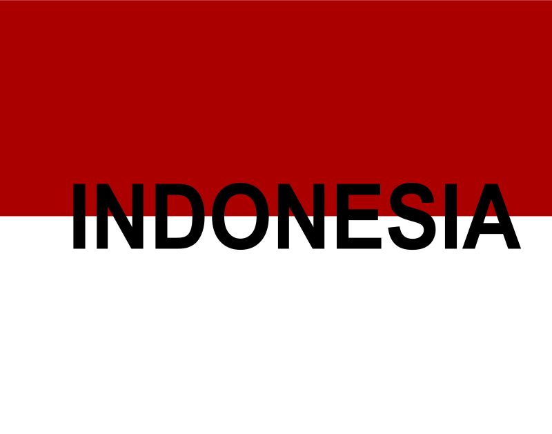 Indonesian flag text by arhsa