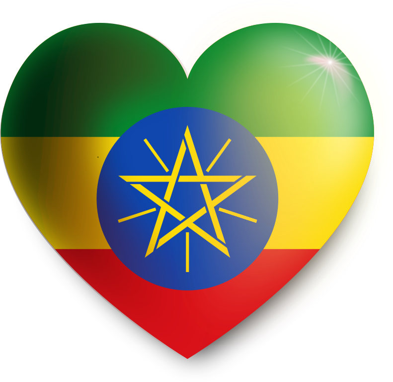 Ethiopia heart by j_iglar - Show your love for Ethiopia!