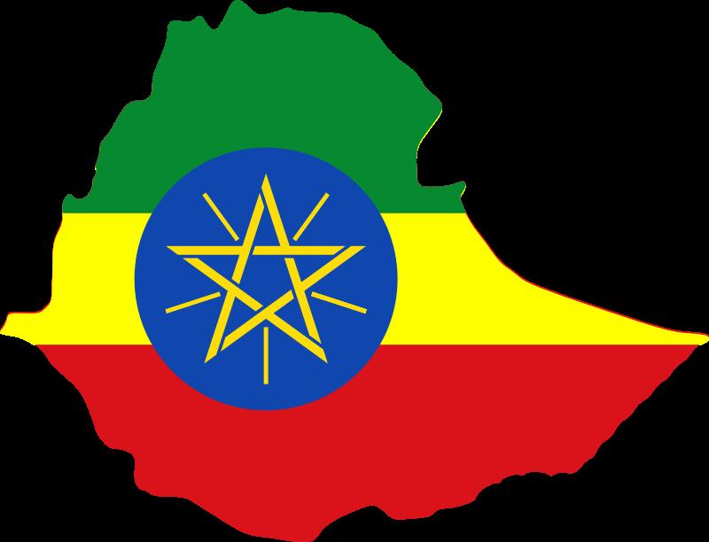 Clipart - Ethiopia map & flag