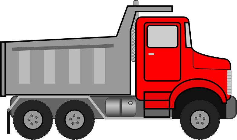 Dump Truck by JayNick - From the eBook, I Love to Color, Play, and Learn. SVG code can be inserted into an SVG image then scaled and positioned where desired.