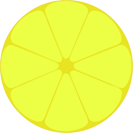 Lemon by cinemacookie - This is a simple clean lemon icon. It can be used for many different things. It's using a lemon style color guide. No textures only solid colors.