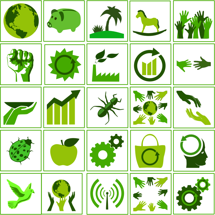eco green icon set by dominiquechappard
