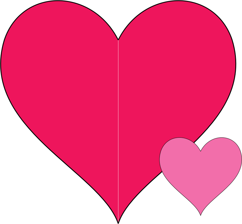 Double Hearts Doodle by JayNick - From the book, I Love to Doodle. SVG code can be inserted into an SVG image then scaled, and positioned where desired. Handcoded SVG for simplicity.