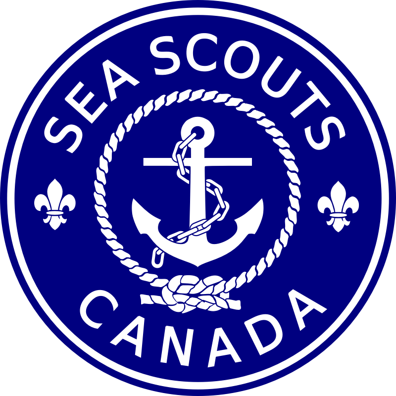 Sea Scouts Canada by kapn - Classic Sea Scout Canada crest, but with better rope and swapping the anchor rope for a chain - planning to reissue crest soon.