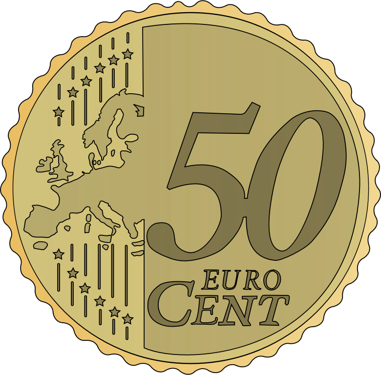 50 euro cent by frankes - coin of 50 euro cent 