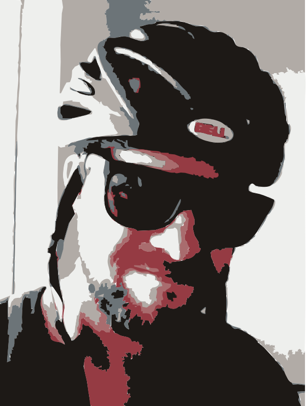 A bike selfie of rejon by rejon - A biking selfie.