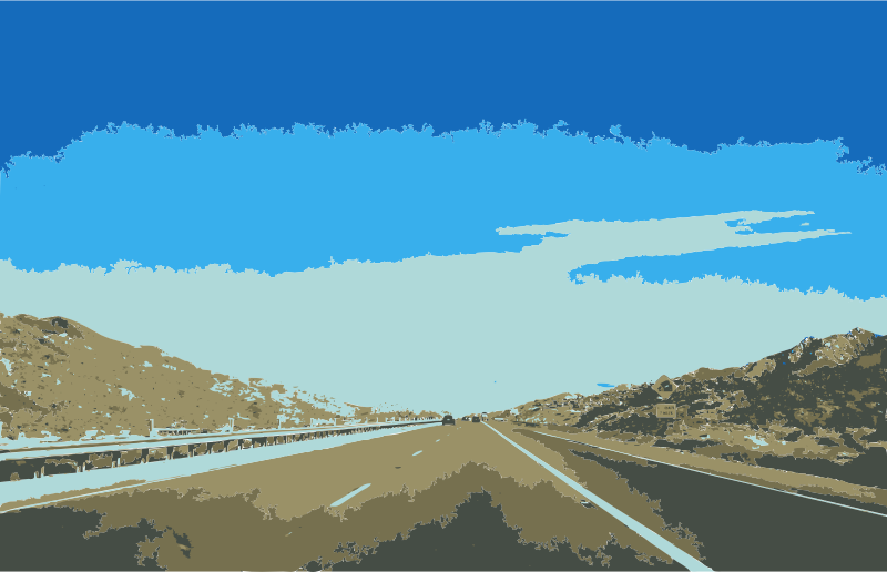 Traveling to Vegas from San Diego 1 by rejon - That's pretty much it with some blue skies.