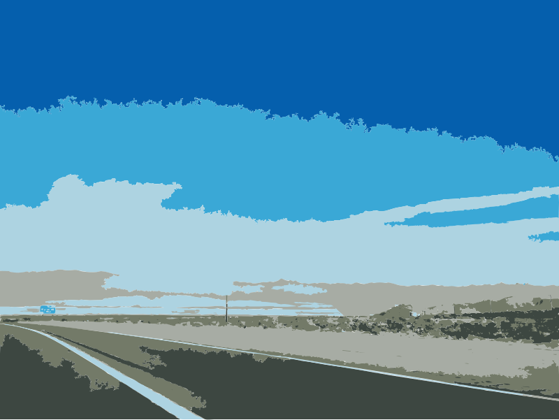 Traveling to Vegas from San Diego 2 by rejon - That's pretty much it with some blue skies.