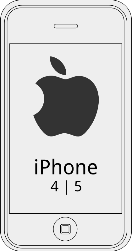 iPhone4 by augustoschwartz - A simple scketch of iphone4 with logo.