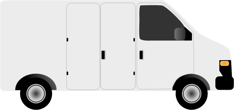 Generic Van by bmiller2465 - The side of a generic white delivery van.  There is no branding.