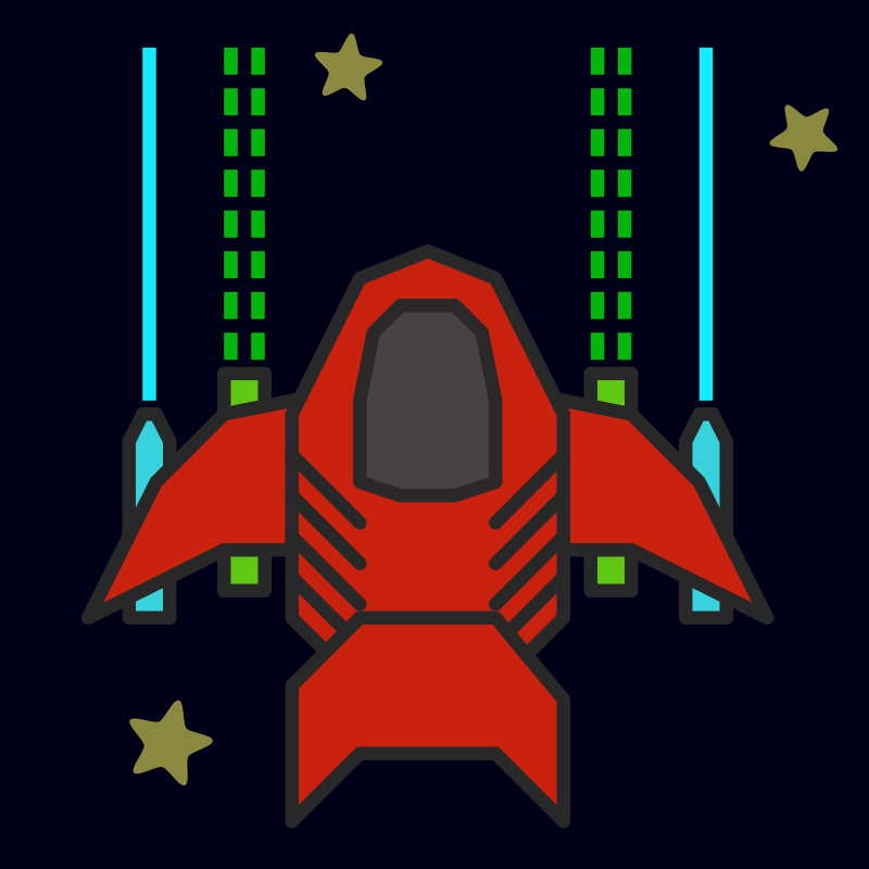 Space ship by qubodup - I played around with madbad's ship and somehow made it uglier.