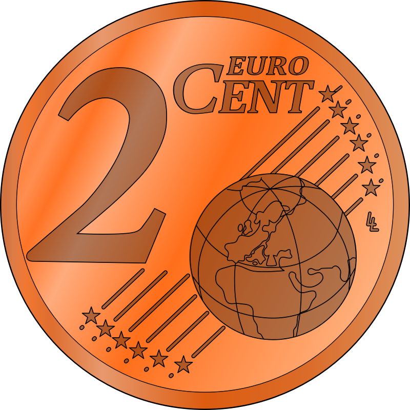 two euro cent by frankes - wo euro cent, colored 