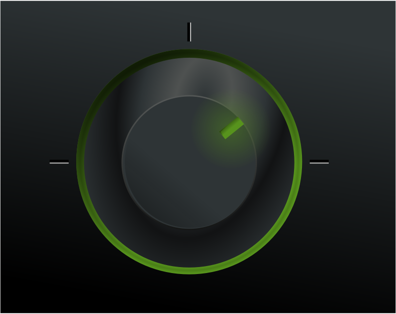 Black power button by rg1024 - black knob with green indicator light