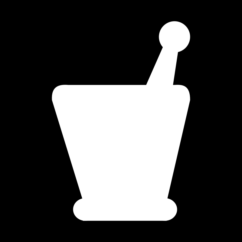 Mortar and Pestle by algotruneman - Stylized mortar and pestle in silhouette.