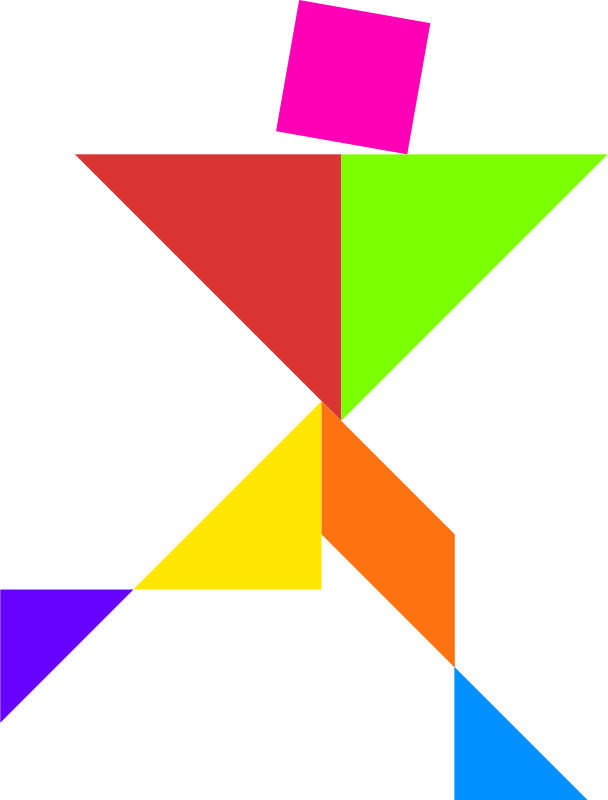 Tangram by dominiquechappard - tangram - person - color
