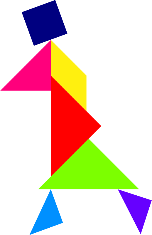 Tangram by dominiquechappard - A tangram; a Chinese puzzle in color