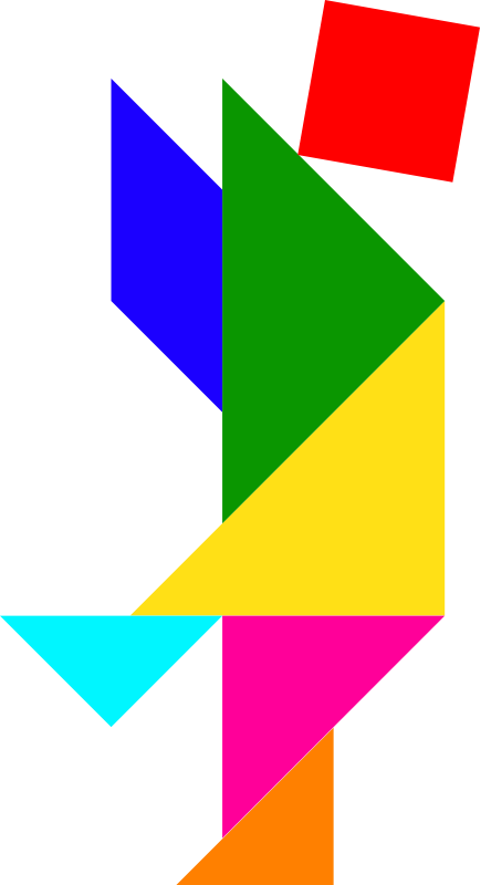 people , puzzle , shape , tangram