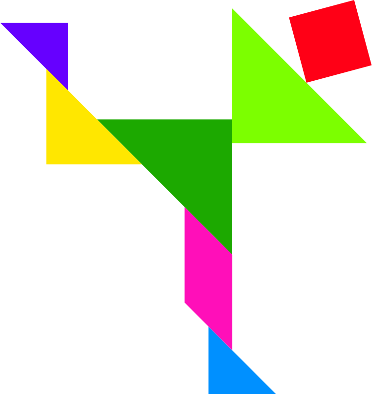 Tangram by dominiquechappard - Colored tangram puzzle solution