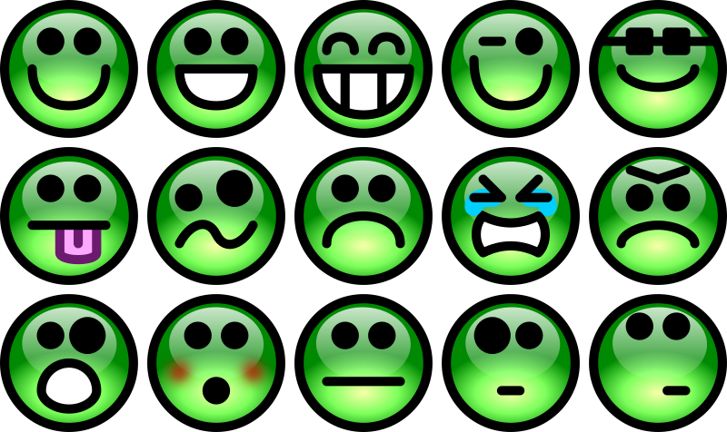 Glossy Smiley Set 2 by Chrisdesign - emoticons