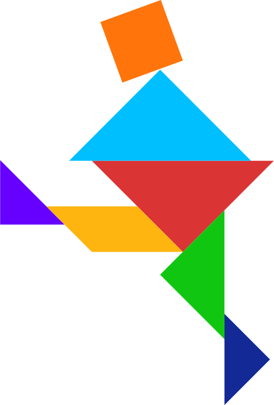 Tangram by dominiquechappard - tangram person color