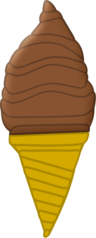 Chocolate Ice Cream Cone by Arvin61r58 - Chocolate Ice Cream Cone
