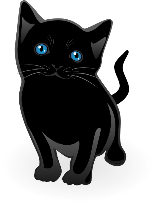 Little cat vector by waider - Little cat with blue eyes. Free vector graphics.