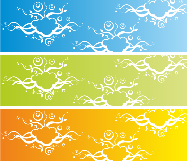 Banner with abstract background by waider - 3 banners with abstract background. Free vector illustration.