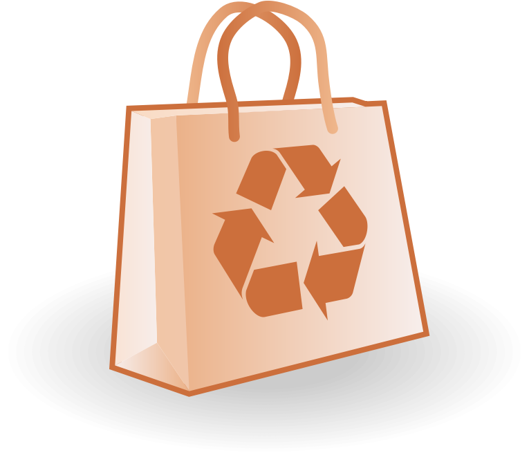Paper bag vector by waider - Paper bag with recycle sign. Free vector illustration.