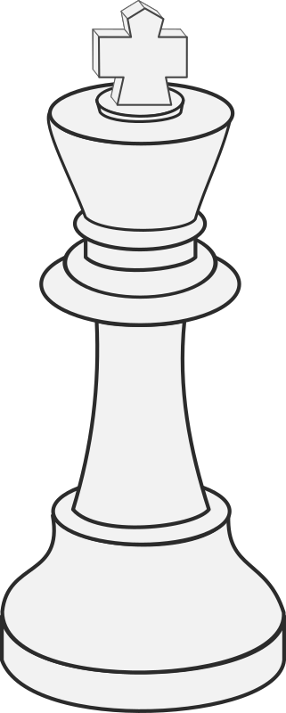 White King (Chess) by portablejim - A white king. This is just a quick do-up of of johnpwarren's black king in white.