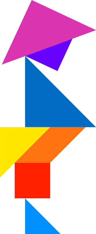 Tangram by dominiquechappard - Colored tangram puzzle template