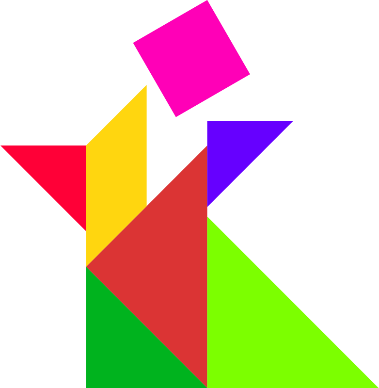 answer , people , puzzle , shape , tangram