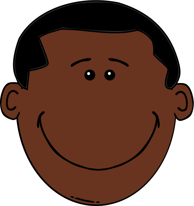 "Black Boy by assi4711 - Changed hair style and skin color of ""Man Face Cartoon"" by rejon."