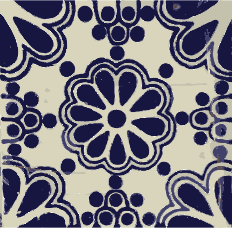 Mexican tile 02 by dnodnodno - Blue and white tile from Mexico.