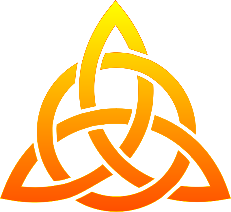 Celtic trinity knot by techwriter - Celtic trinity knot, with gradient