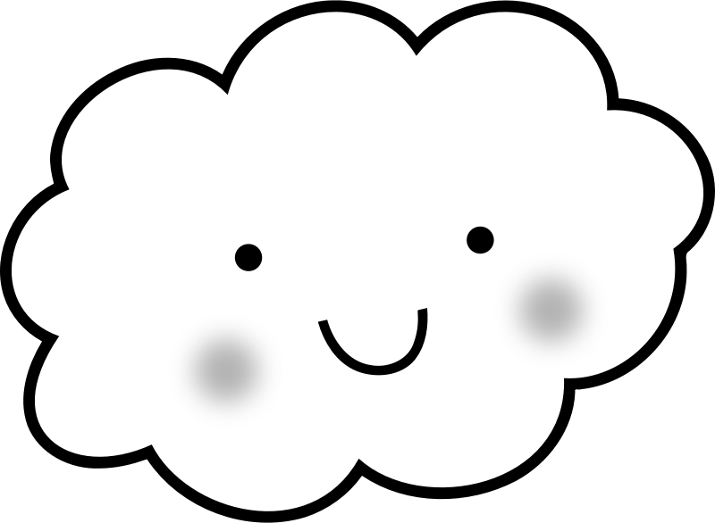 Cute Cloud - Coloring Book by uroesch - Cute cloud for coloring book