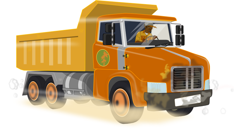 Dump truck by Markacio - Like the peugeot 504 vehicle, this one is built without big knowledge about dump truck just looking around when I walk my dog..that's all.
